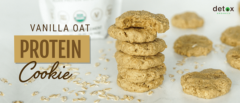 Vanilla Oatmeal Protein Cookie Header Image